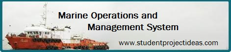 Marine operations and management system