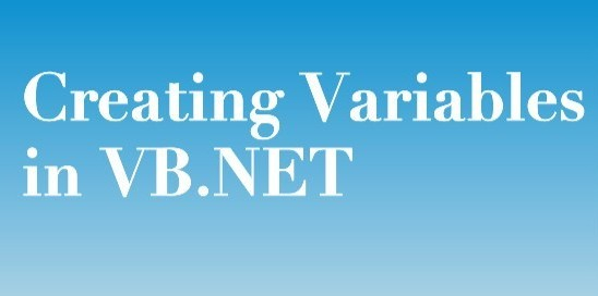 How to create variables in VB.NET