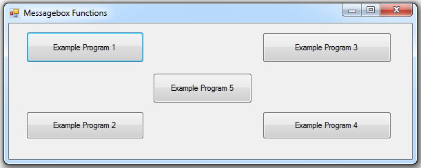 Message Box in VB .NET