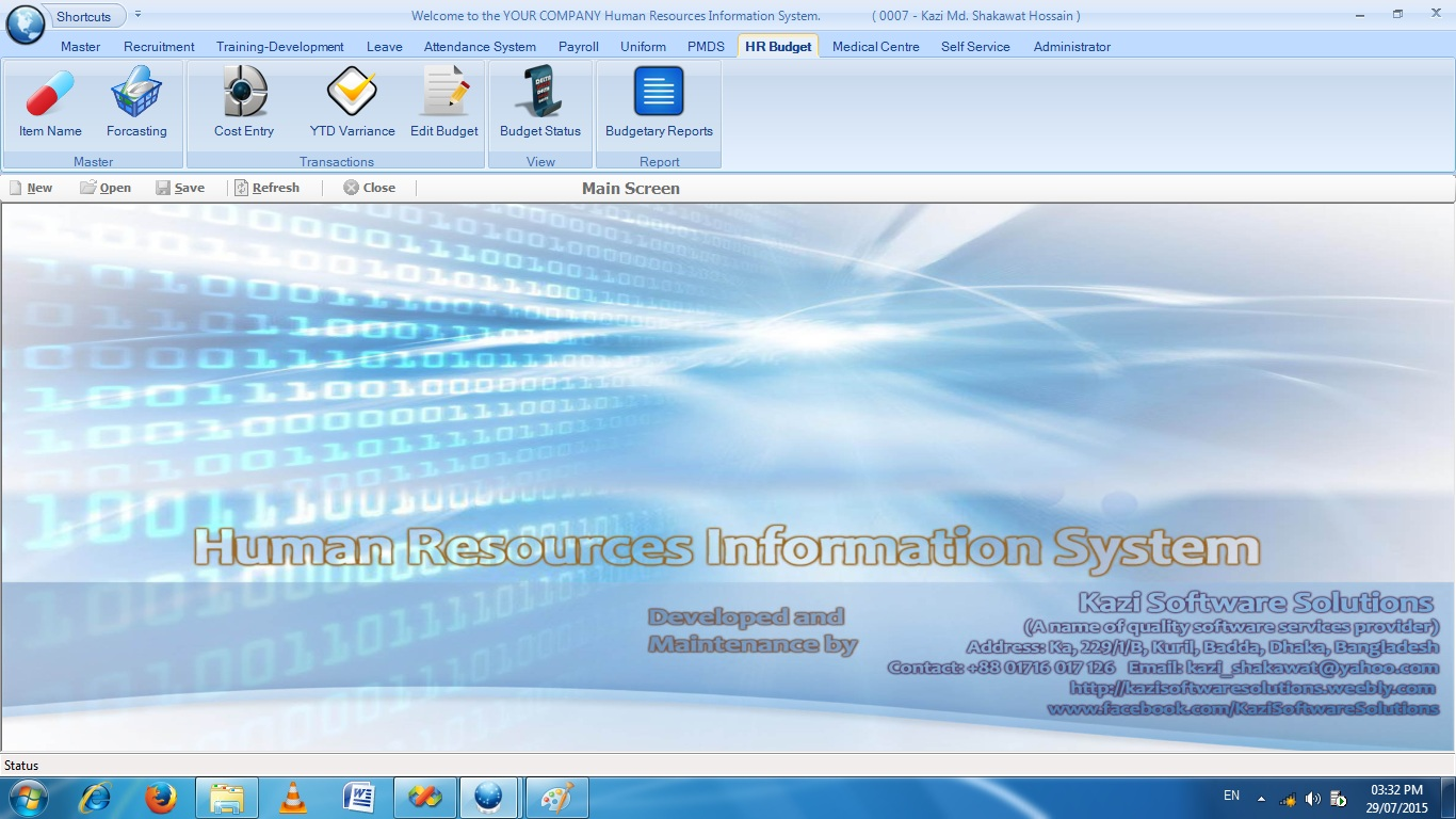 Modules ofHuman Resources Information System