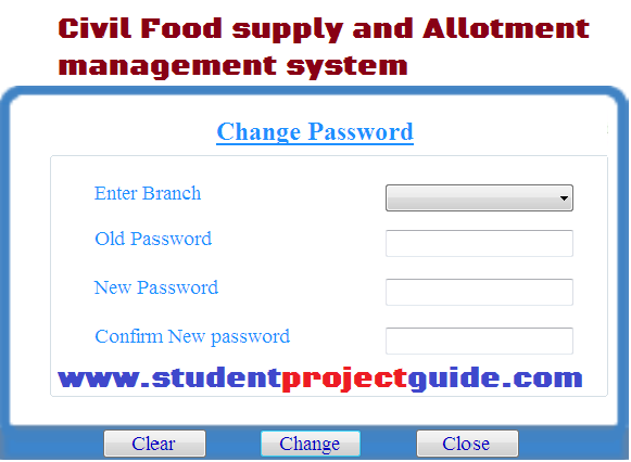 Civil Food supply and allotment management system